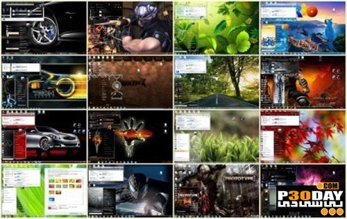 دانلود مجموعه 25 تایی تم های ویندوز سون 25 beautiful Themes Collection