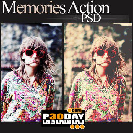 دانلود اکشن فوق العاده زیبا و حرفه ای Memories Action برای فتوشاپ
