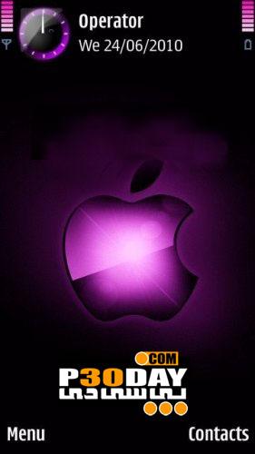 دانلود تم فوق العاده زیبا و جالب Apple Theme سیمبیان 3