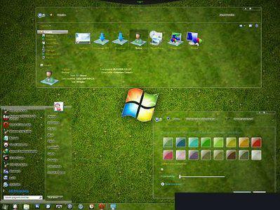 دانلود تم شیشه ای ویندوز 7 Full Glass for Windows 7 Theme