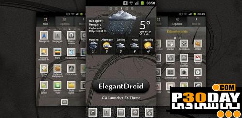 دانلود تم آندروید ElegantDroid GO Launcher Theme v1.0