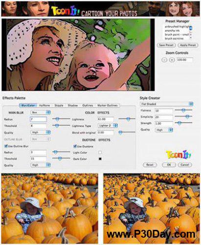 پلاگین تبدیل تصاویر به کارتون برای فتوشاپ DigitalAnarchy ToonIt v2.6.1