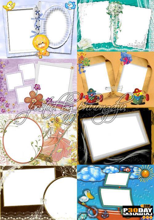 دانلود فریم آماده عکس Collection of Spring Photo frames pack 11
