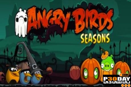 دانلود نسخه جدید بازی فوق العاده Angry Birds Seasons: Haloween سیمبیان 3