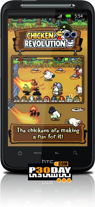 دانلود بازی فوق العاده زیبا و جذاب Chicken Revolution v1.0 آندروید