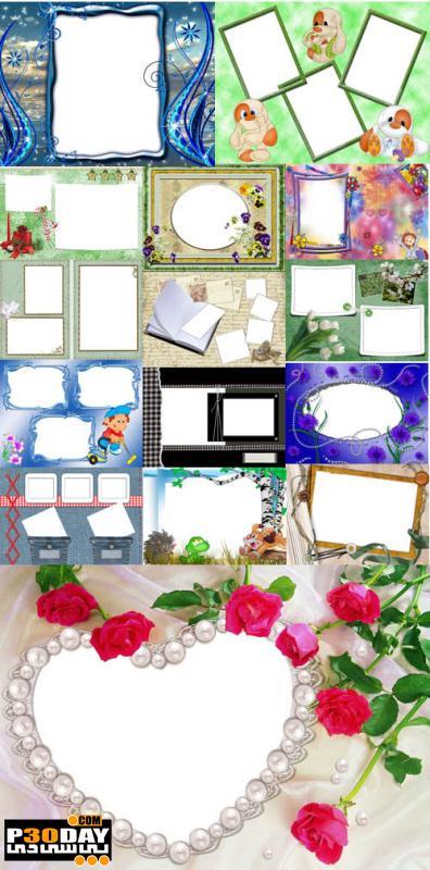 دانلود فریم آماده عکس Collection of Spring Photo frames pack 10