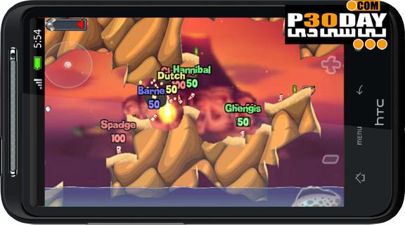 دانلود بازی کرم ها آندروید Worms 0.33 Android