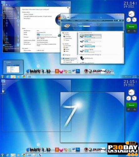 دانلود تم زیبای ویندوز سون Aero Blue Theme For Windows 7