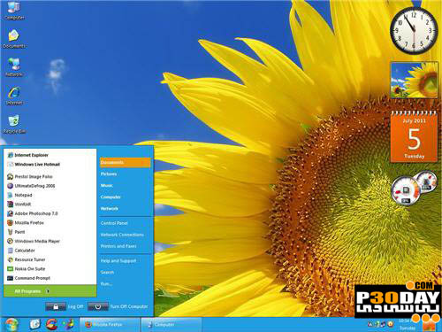 دانلود تم جدید و بسیار زیبای Metro برای ویندوز XP