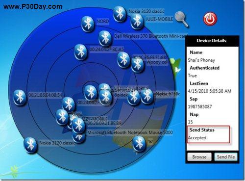 شناسایی موقعیت دستگاه های بلوتوث با نرم افزار Bluetooth Radar 2.2