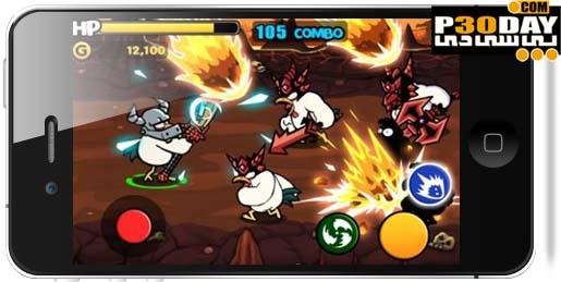 بازی بسیار زیبای مرغ های جنگجو Chicken Revolution : Warrior 107 آیفون
