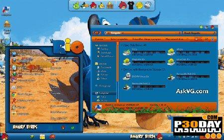 دانلود تم پرندگان خشمگین Angry Birds Skin Pack 1.0 64-bit