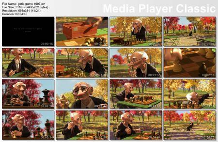 دانلود انیمیشن کوتاه و فوق العاده زیبای Geri's Game 1997