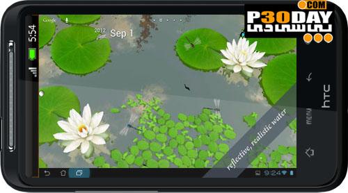 دانلود والپیپر زنده آندروید 3D Lotus Live Wallpaper v1.6