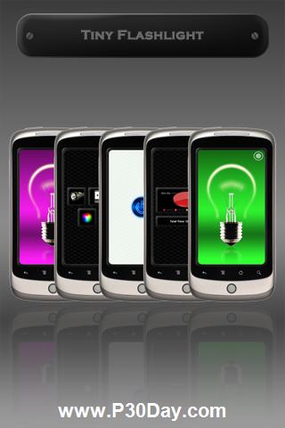 نرم افزار آندروید چراغ قوه Tiny Flashlight 3.8.9