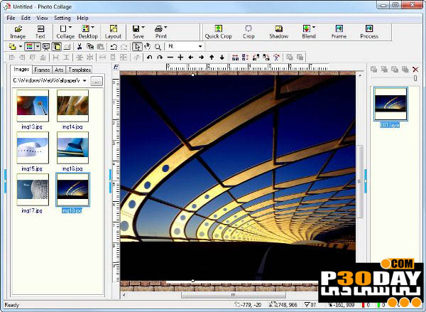 نرم افزار قرار دادن قاب بر روی تصاویر Photo Collage Platinum 3.01