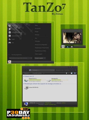 دانلود تم زیبای ویندوز سون Tanzo7 Theme For Windows 7