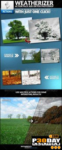 دانلود اکشن تغییر فصول مخصوص فتوشاپ Weatherizer Photoshop Actions