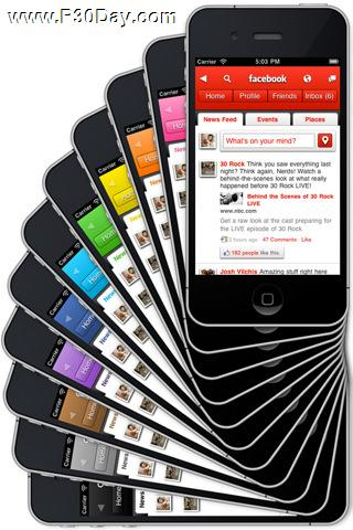 اتصال سریع به فیسبوک در آیفون با Facebook HD 1.1 iPhone