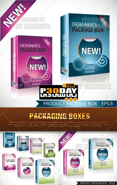 دانلود جعبه های آماده Packaging Boxes