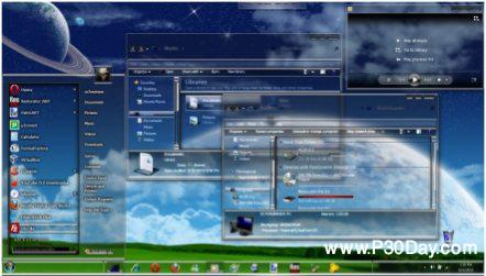 پک تم جدید و فوق العاده زیبا برای ویندوز 7 با موضوع Elysium
