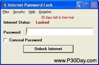 نرم افزار محدود کردن دسترسی به اینترنت Internet Password Lock v7.3.36