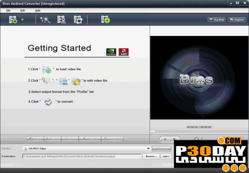 نرم افزار مبدل ویدیوهای آندروید Bros Android Converter 3.0.0.433