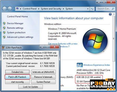 دانلود برنامه رفع مشکل شناسایی نشدن کامل رمهای 4 گیگ در ویندوز 7 نسخه