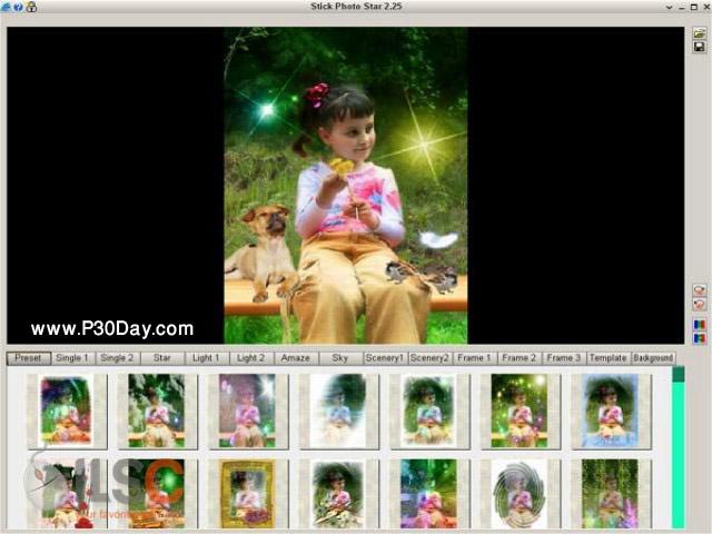 نرم افزار قرار دادن افکت بر روی تصاویر AVOnesoft Stick Photo Star 2.38