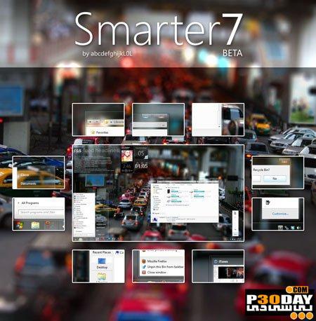 دانلود تم زیبا و جدید ویندوز سون Smarter7 Beta For Window 7