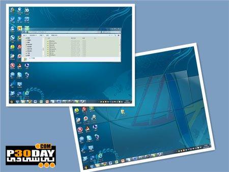 دانلود تم زیبای ویندوز سون AeroSharpNM Animated Style For Windows 7