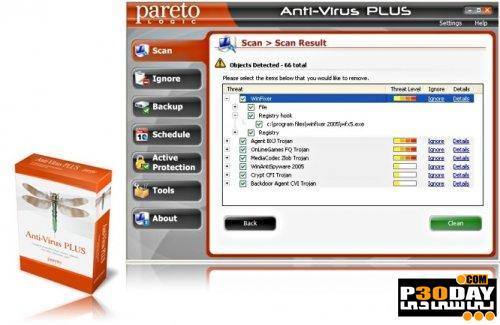 دانلود برنامه مقابله با ابزارهای مخرب ParetoLogic Anti-Virus PLUS 7.0.0