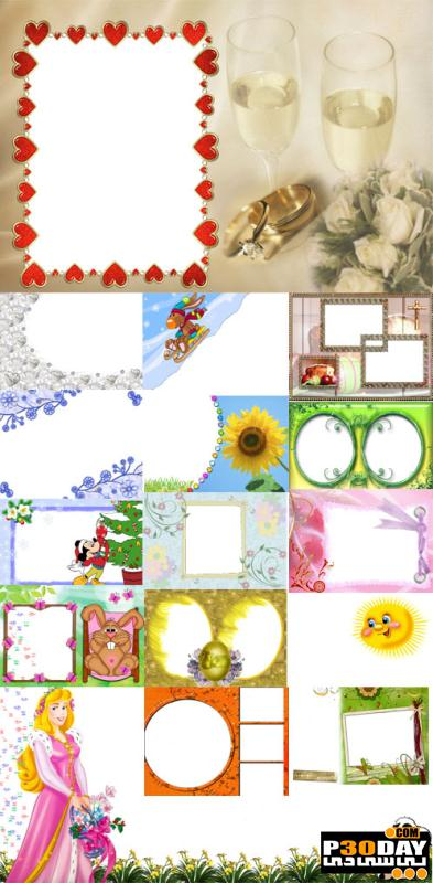 دانلود فریم آماده عکس Collection of Spring Photo frames pack 8