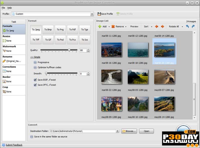 نرم افزار تبدیل فرمت های عکس Pearl Mountain Image Converter v1.2.6