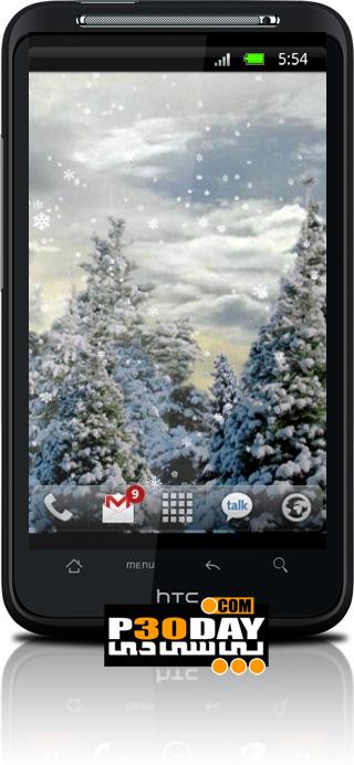 والپیپر بارش برف آندروید Snowfall Live Wallpaper v2.01