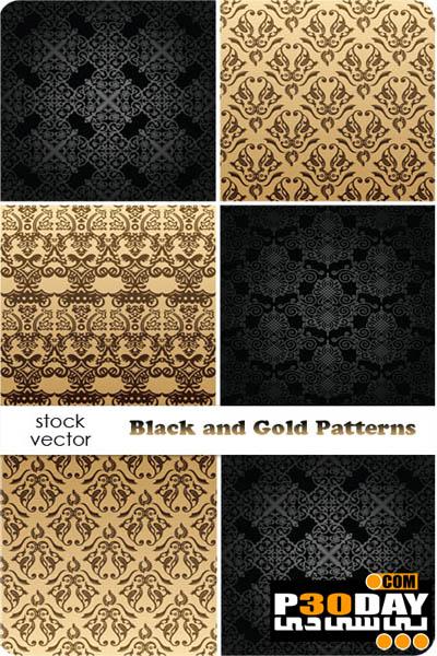 دانلود مجموعه پترن های حرفه ای و زیبا Black and Gold Patterns