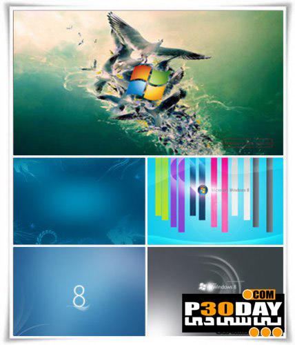 دانلود مجموعه 160 عکس پس زمینه فوق العاده زیبا Windows 8 HD Wallpapers