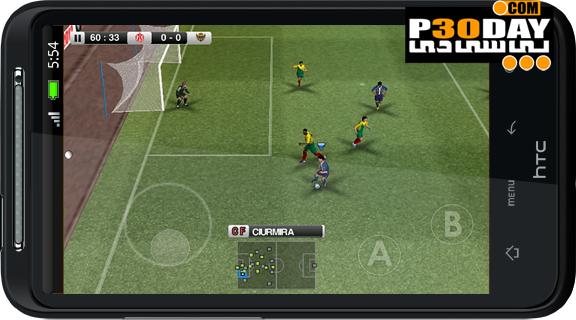 دانلود بازی فوتبال آندروید PES 2012 Android