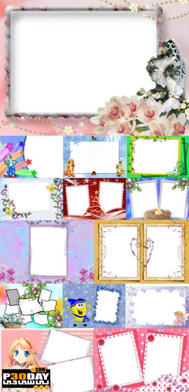 دانلود فریم آماده عکس Collection of Spring Photo frames pack 1