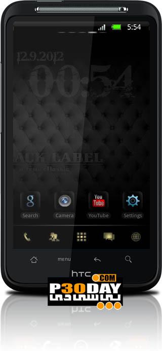 تم فوق العاده زیبا و مشکی Black Label Theme Go Launcher v1.0 آندروید