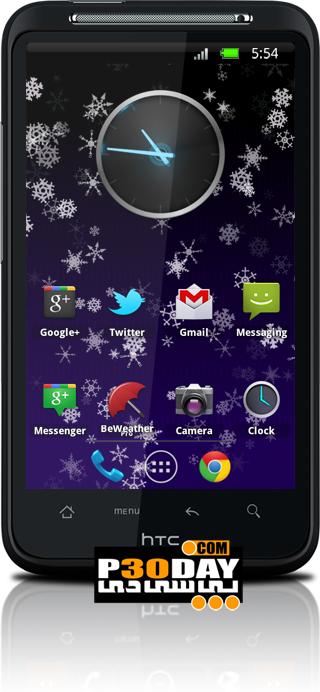 والپیپر زنده بارش برف آندروید Snowflakes Live Wallpaper v1.77