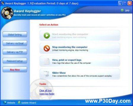 ثبت مخفیانه تمامی فعالیت های انجام شده در کامپیوتر با Award Keylogger 2.3
