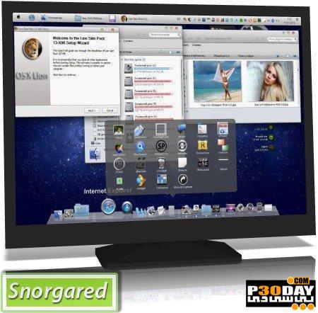 تغییر ظاهر ویندوز 7 به مکینتاش با Mac Lion Skin Pack 13.0 for Windows 7