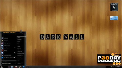 دانلود تم چوبی بسیار زیبا مخصوص ویندوز سون Dark Wood Theme