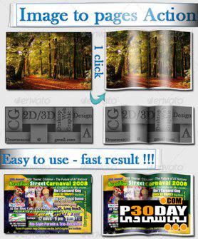دانلود اکشن بسیار زیبا و کاربردی Image to Pages Action فتوشاپ