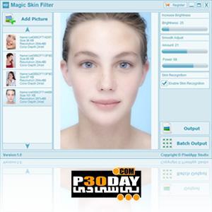 دانلود برنامه ویرایش و ساخت تصاویر پرتره Magic Skin Filter 1.1 Portable