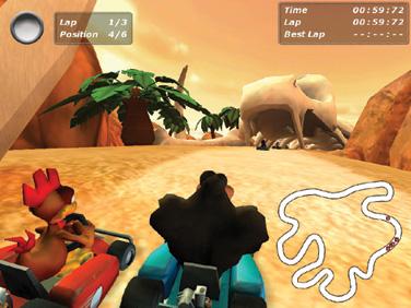 نسخه جدید بازی کارتینگ مرغ های دیوانه Crazy Chicken Kart 3