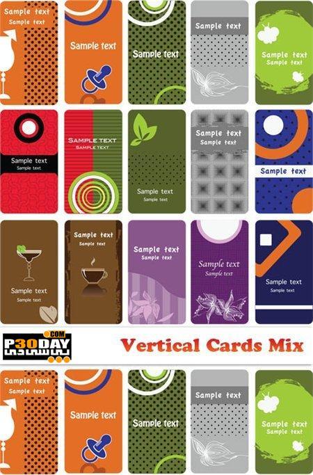 دانلود کارت ویزیت های آماده Vectors - Vertical Cards Mix