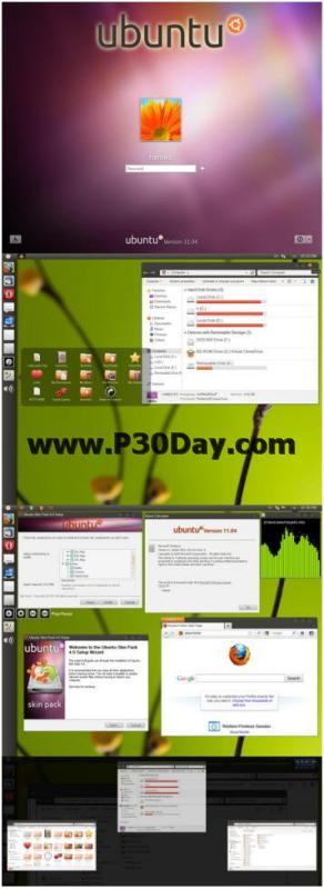 دانلود تم های زیبای سیستم عامل اوبونتو Ubuntu Skin Pack 4.0 Theme
