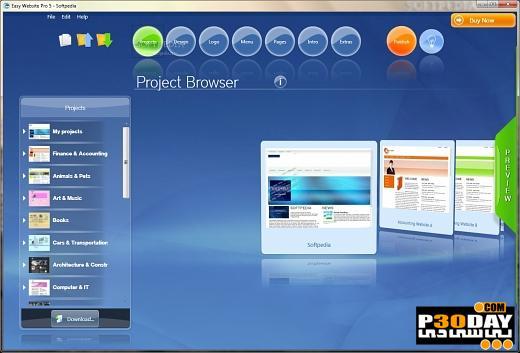 برنامه طراحی حرفه ای صفحات وب PhotonFX Easy Website Pro Unlimited v5.0.8